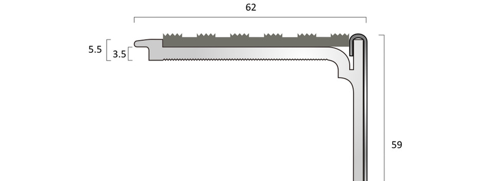 CAT Aluminium Nosing SN7