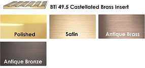 Cat bti Brass Nosing Insert Colours