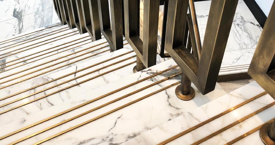 Stair Tread Inserts Brass