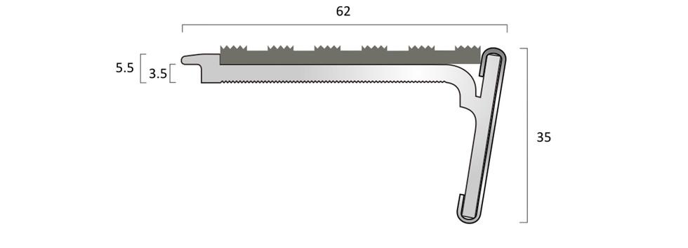 CAT Aluminium Nosing SN6