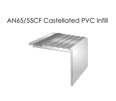 AN65-55CF Castellated PVC Infil