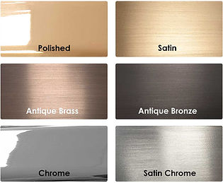 CAT Brass and Chrome Finishes