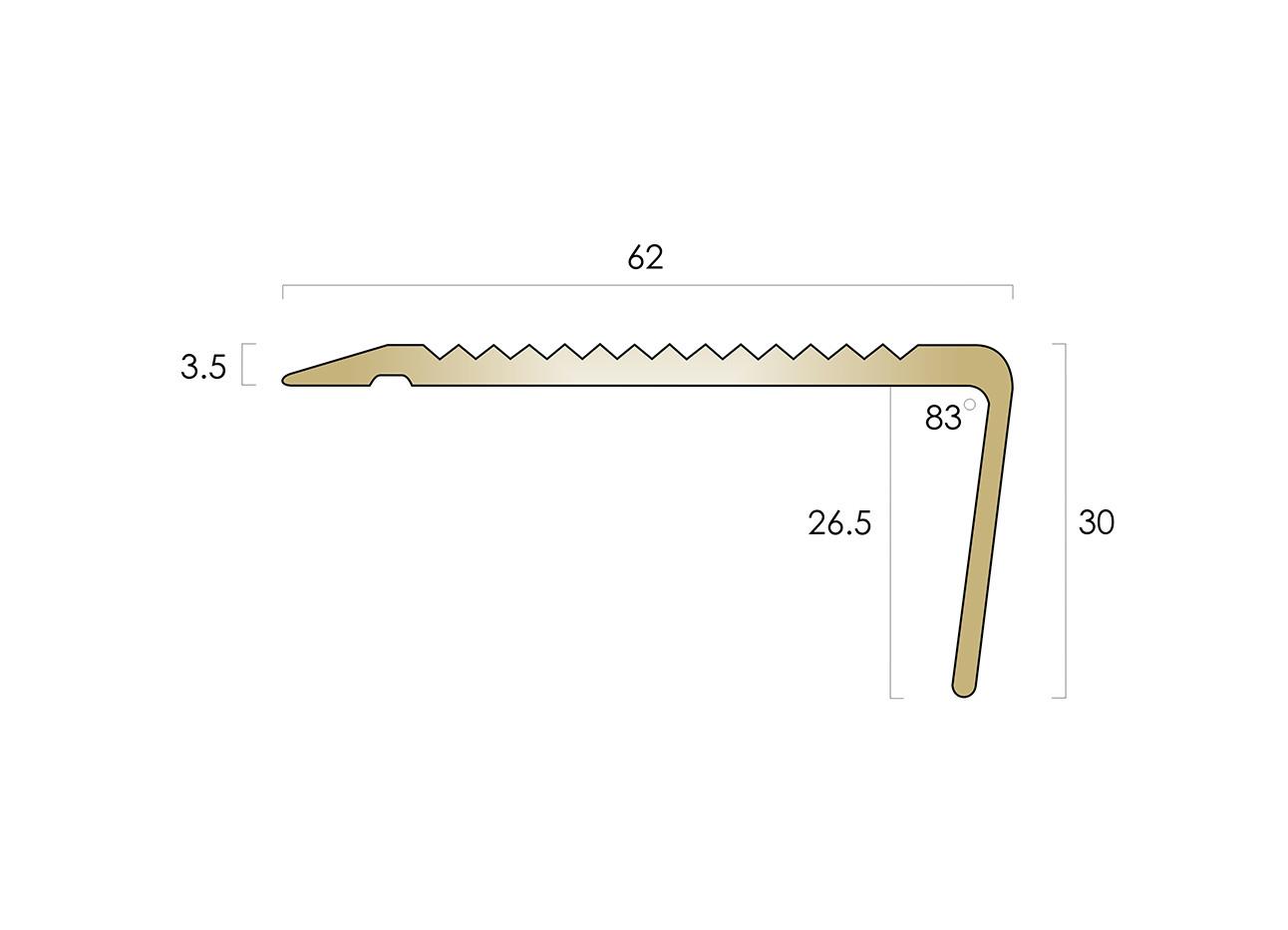 CAT Brass Nosing BN1SLR-R