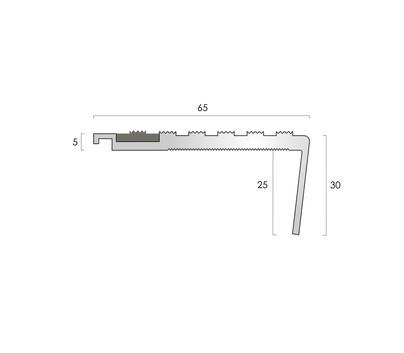 CAT Aluminium Nosing AN65-30R CF