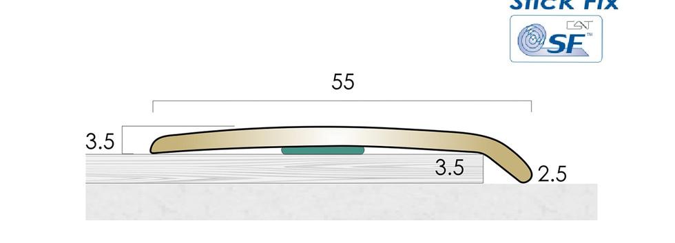 CAT Brass Flooring Profiles B155 SF
