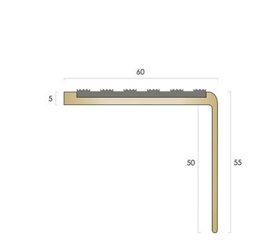 CAT Brass Nosing BN55 - Castellated