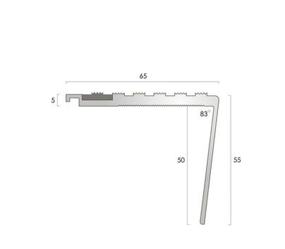CAT Aluminium Nosing AN65-55R CF