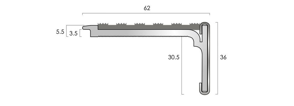 CAT Aluminium Nosing SN5