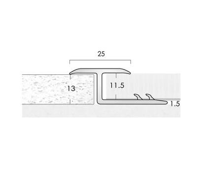 Feline Aluminium Feline A/13 Floor Trim