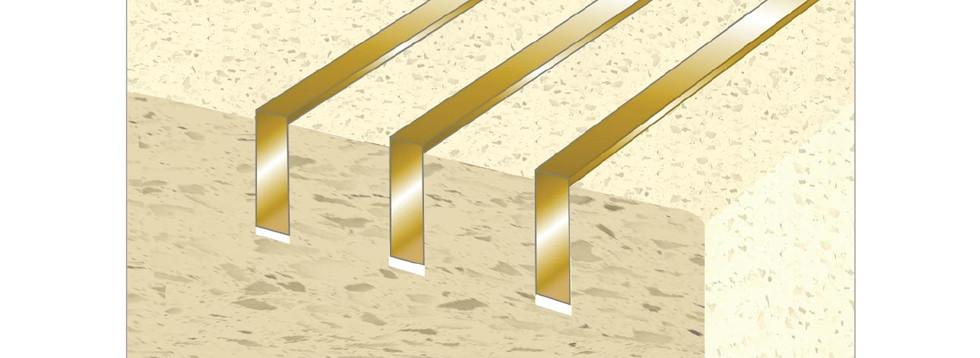 CAT Insert Plates Brass In Stone