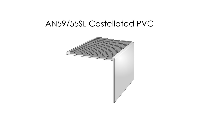 AN59-55SL Castellated PVC