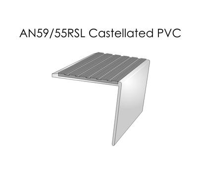 AN59-55RSL Castellated PVC