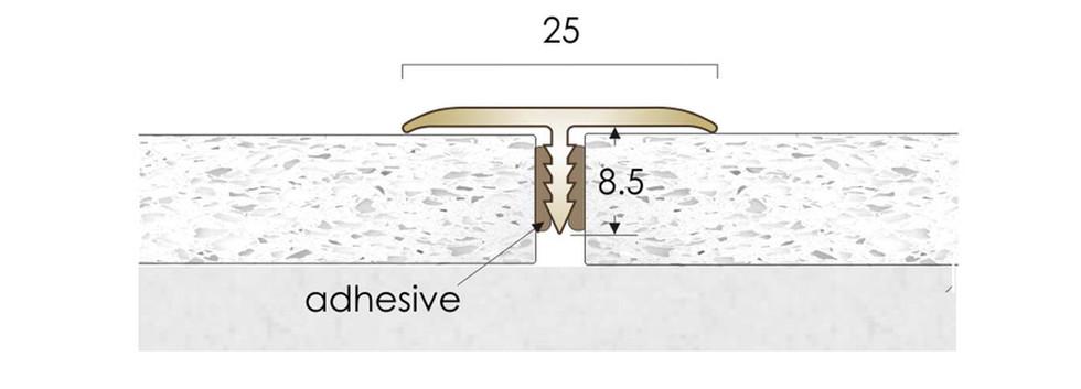 CAT Brass Flooring Profiles Feline T25