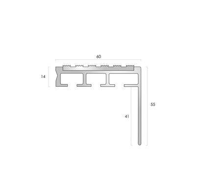 CAT Aluminium Nosing ANT60-55-14