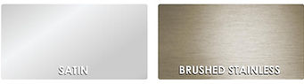 Satin & Brushed-Stainless Floor Trim Finishes