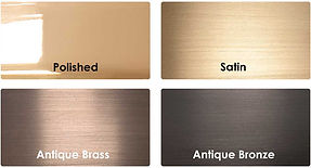 CAT Brass Nosing Finishes