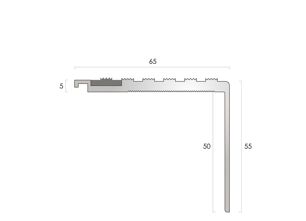 CAT Aluminium Nosing AN65-55 CF
