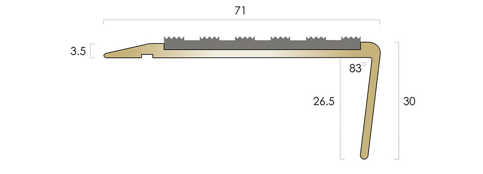 CAT Brass Nosing BN71SLR-R