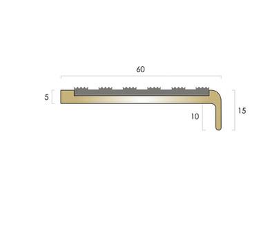 CAT Brass Nosing BN3 - Castellated