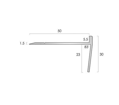 CAT Aluminium Nosing AN20R 5.5