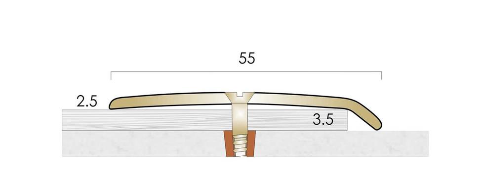 CAT Brass Flooring Profiles  B155