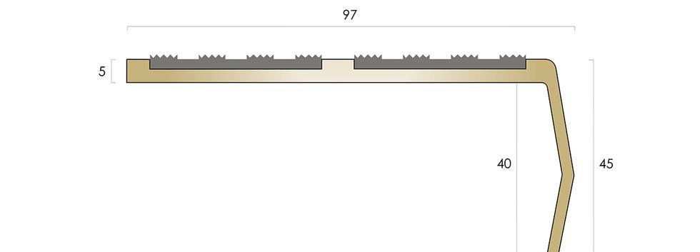 CAT Brass Nosing BN52 - Castellated