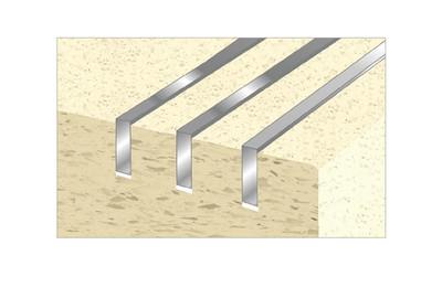 CAT Stair Insert Plates Aluminium