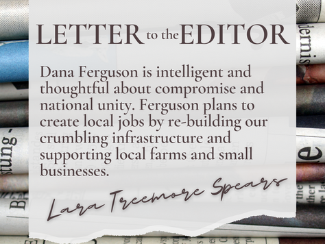 """""""Ferguson is intelligent, thoughtful about compromise and national unity"""" –LTE"""