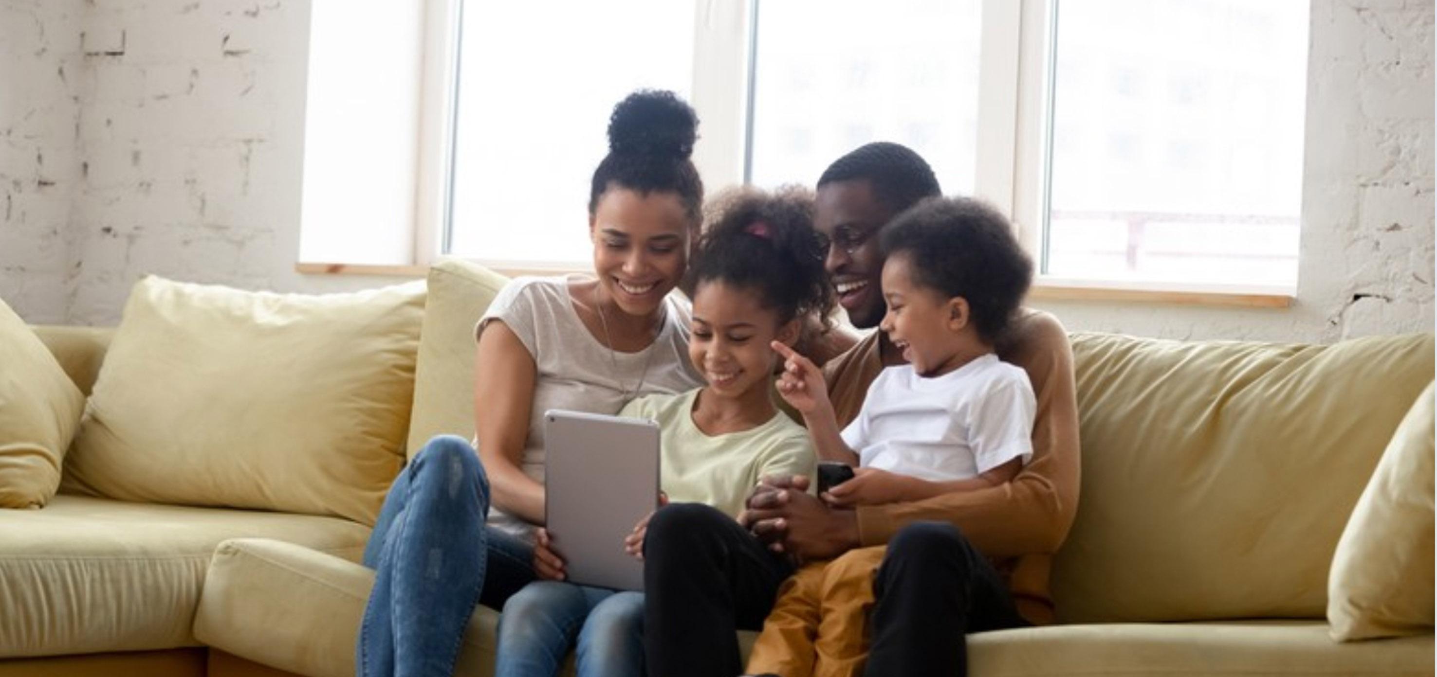 Black Family Reading 1