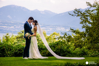 Boda en Suiza, frente al lago Lemán