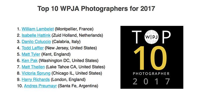 Top 10 WPJA 2017