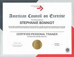Ace Certification 2019 2021 Stephanie Bo
