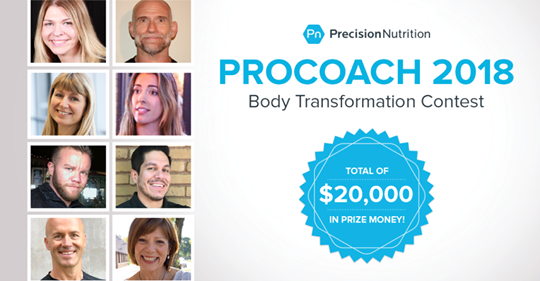 Gagnante d'un prix du concours international ProCoach 2018 Body Transformation!