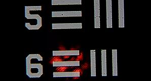 Raman microscope laser spot size