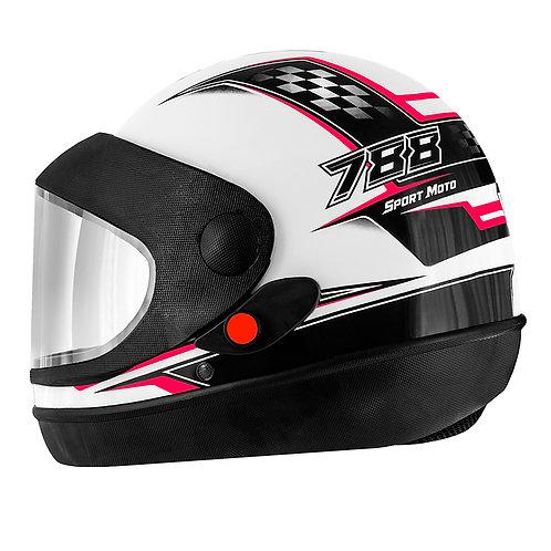 Capacete Super Sport Moto 788 Branco
