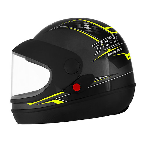 Capacete Super Sport Moto 788 Grafite