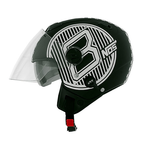 Capacete New Atomic Nos Eight Ball
