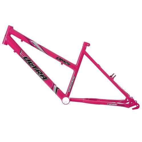 Quadro + Garfo Ultra Bikes Aro 24 Feminino