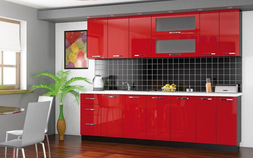 Кухня Гамма красная