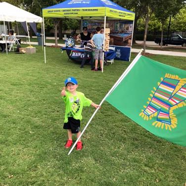 Holden holding K Club Flag.jpg
