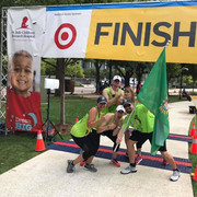 K Club board members at the finish line.