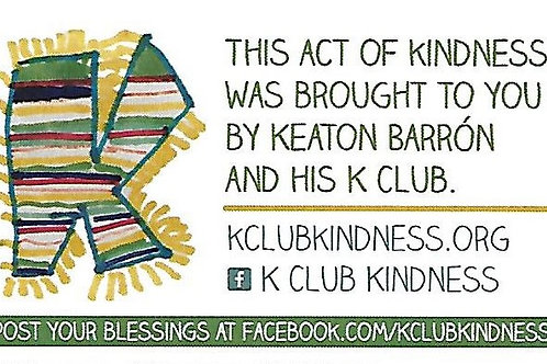 Keaton's Kindness Cards (25 cards per order)