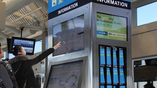JFK AirTrain Information Kiosk