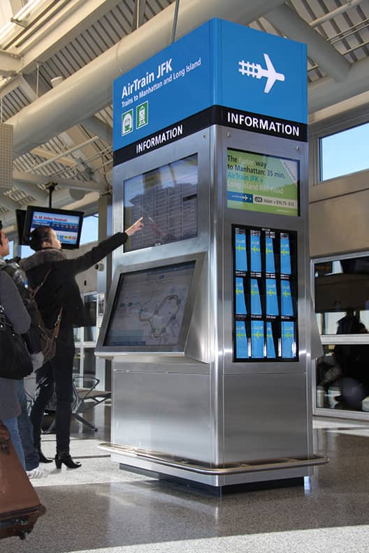 Welcome Center Kiosk AirTrain JFK