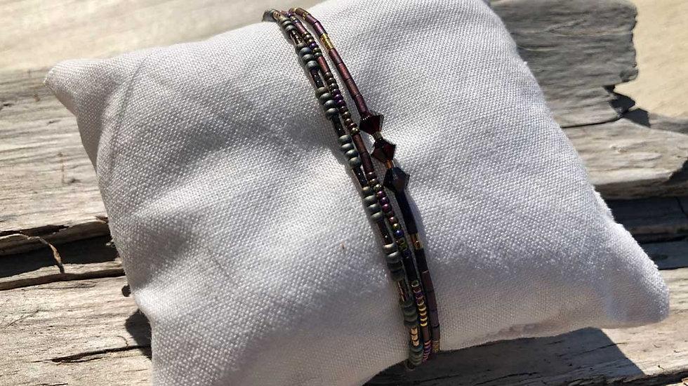 Feines Armband aus Mijuki-Pelen