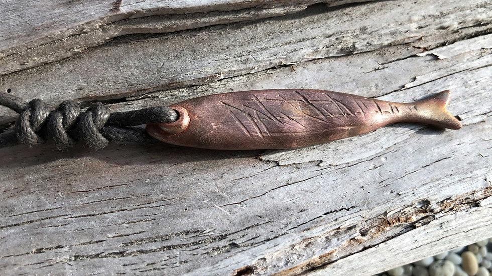 Prähistorischer Fisch Kupfer