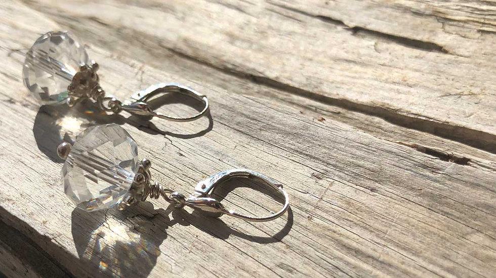 Ohrhänger geschliffenes Glas