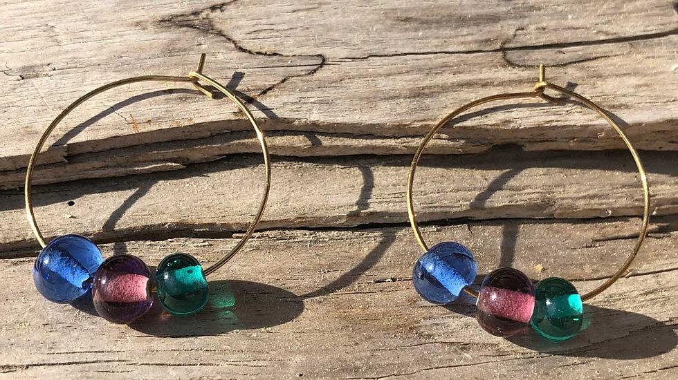 Kreolen mit Glasperlen