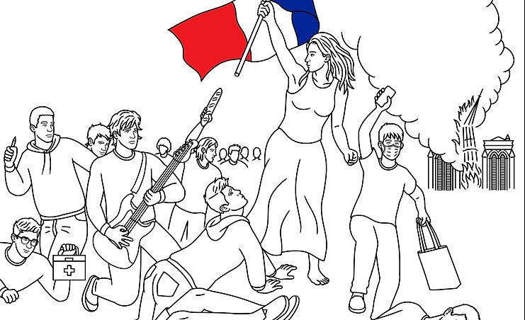 """Illustration """"La liberté guide le peuple"""""""