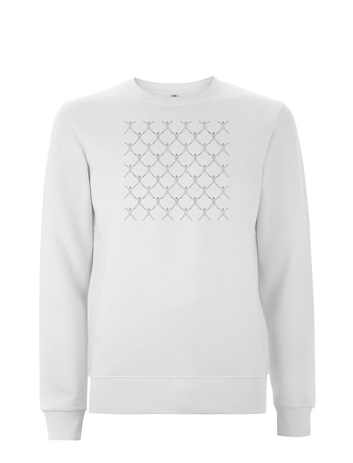Vue frontal du sweat white